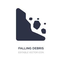 Falling Debris Icon On White B...