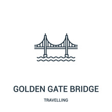 Golden Gate Bridge Icon Vector...