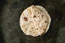 Homemade Pita Or Chapati Flatb...