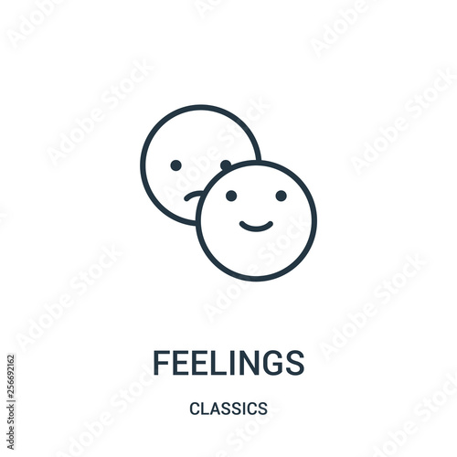 Fotografia  feelings icon vector from classics collection