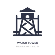 Watch Tower Icon On White Back...