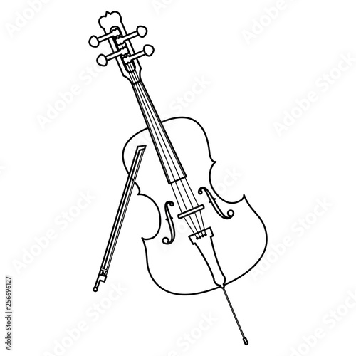 fiddle instrument musical icon Wallpaper Mural