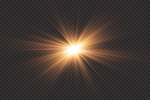 White Glowing Light Explodes O...
