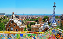 Park Guell By Antonio Gaudi, Barcelona, Spain