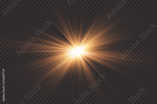 Foto  White glowing light explodes on a transparent background