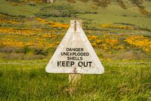 Sign: Danger Unexploded Shells...