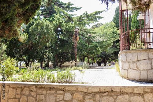 Photo sur Plexiglas Zen pierres a sable Spruce fir house.