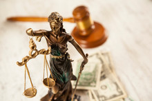 Judge And Justice Lady And Money