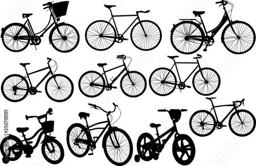 Deurstickers Kranten Bicycle Silhouette Shape Vector