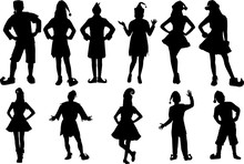 Elf Silhouette Shape Vector