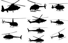Helicopter Silhouette Shape Ve...
