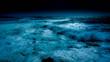 Océan une nuit de pleine lune bleue