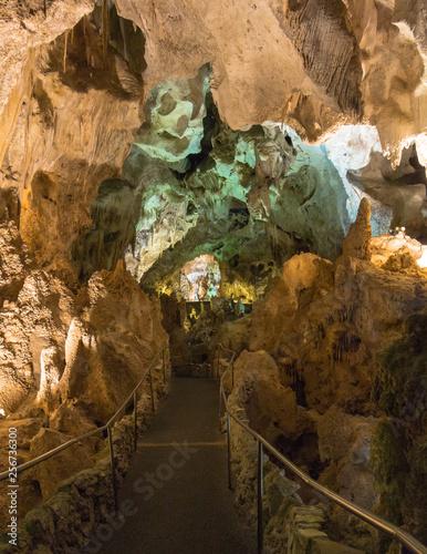 walkway in cave