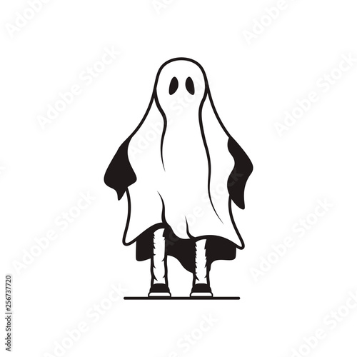 Ghost Halloween logo Wallpaper Mural