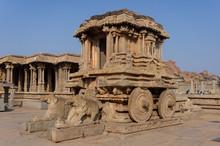 Chariot En Pierre Au Temple De Vittala, Hampi, Inde