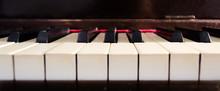 Ivory Piano Keys Closeup.