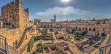 Jerusalem - October 03, 2018: The Ancient Tower Of David In The Old City Of Jerusalem, Israel