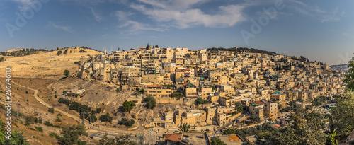 Jerusalem - October 04, 2018: Panoramic view of East Jerusalem, Israel