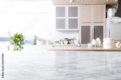 Fotografía  キッチン背景 大理石のテーブル