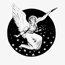 Vintage Angel Illustration