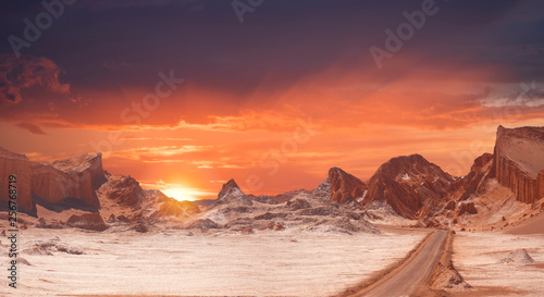 Canvas Prints Orange Glow Valle de la Luna (Moon Valley)