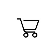 Trolly Icon Vector Isolated On Background. Trendy Sweet Symbol. Pixel Perfect. Illustration EPS 10. - Vector