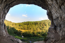 View From A Cave Entrance In The Old Mountains