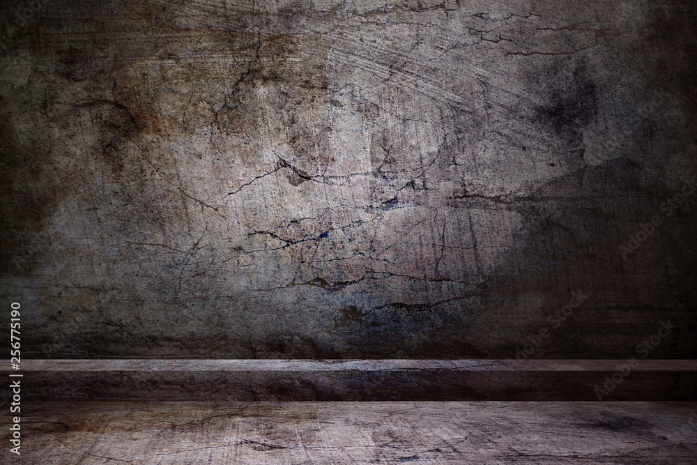 grunge abstract background on concreted wall