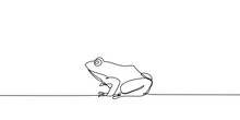 Continuous Line Drawing Of Frog Vector Illustration Future Minimalism Style