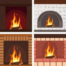 Fireplaces Wooden And Stone De...
