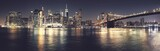 Fototapeta Nowy York - New York City iconic skyline, color toned high quality panorama, USA.