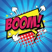 Boom! Comic Speech Bubble, Car...