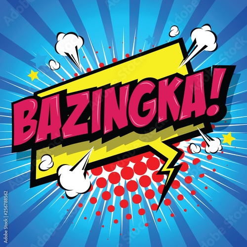 Bazinga! Comic Speech Bubble Wallpaper Mural