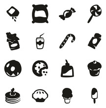 Sugar Or Sugar Food Icons Freehand Fill