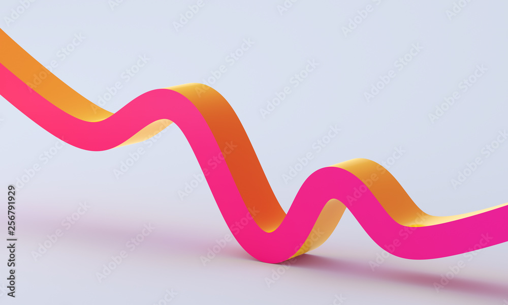 Fototapety, obrazy: Abstract 3d render, minimalistic background, modern graphic design