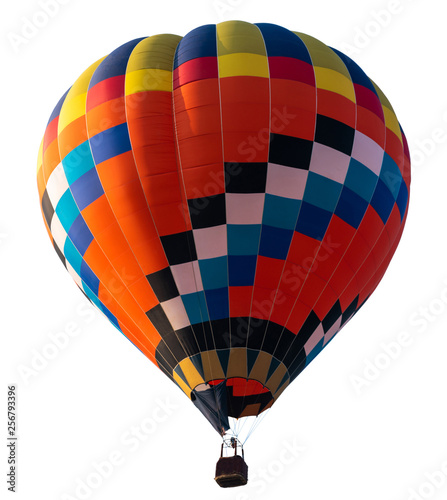 Poster Balloon Isolated photo of hot air balloon isolated on white background.