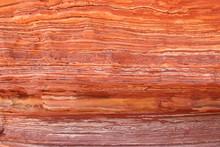 Orange And Yellow Layered Rock Face In Kalbarri National Park, Western Australia