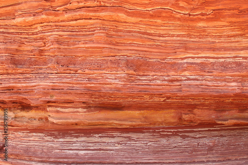 Fotomural Orange and yellow layered rock face in Kalbarri National Park, Western Australia