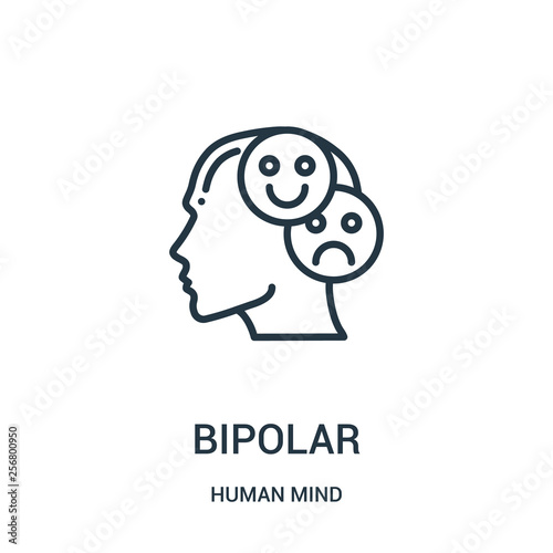 bipolar icon vector from human mind collection Wallpaper Mural
