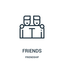 Friends Icon Vector From Frien...