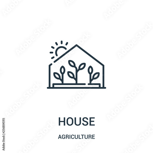 Fotografie, Obraz greenhouse icon vector from agriculture collection