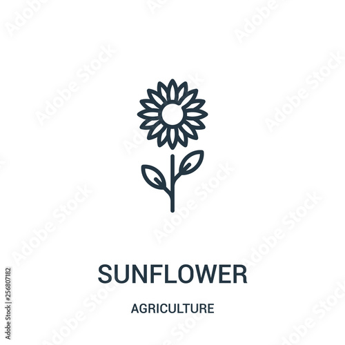 sunflower icon vector from agriculture collection Fototapeta