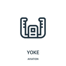 Yoke Icon Vector From Aviation...