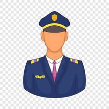Pilot Icon In Cartoon Style On...
