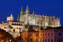 Night View Of The Cathedral Of...