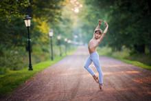 Boy Dancing In The Park