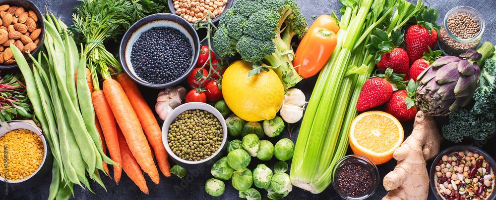 Fototapety, obrazy: Healthy organic food
