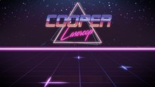 First Name Cooper In Synthwave...