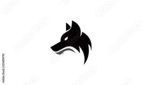 head wolf logo vector Wallpaper Mural