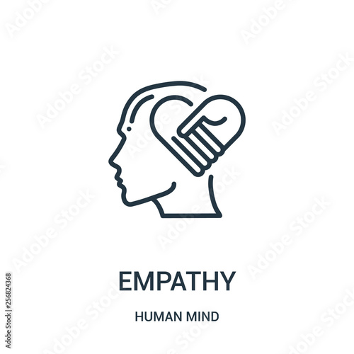 Fotografia  empathy icon vector from human mind collection